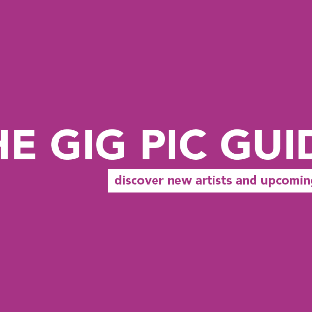 THE GIG PIC GUIDE #7: This weeks must see artists and shows