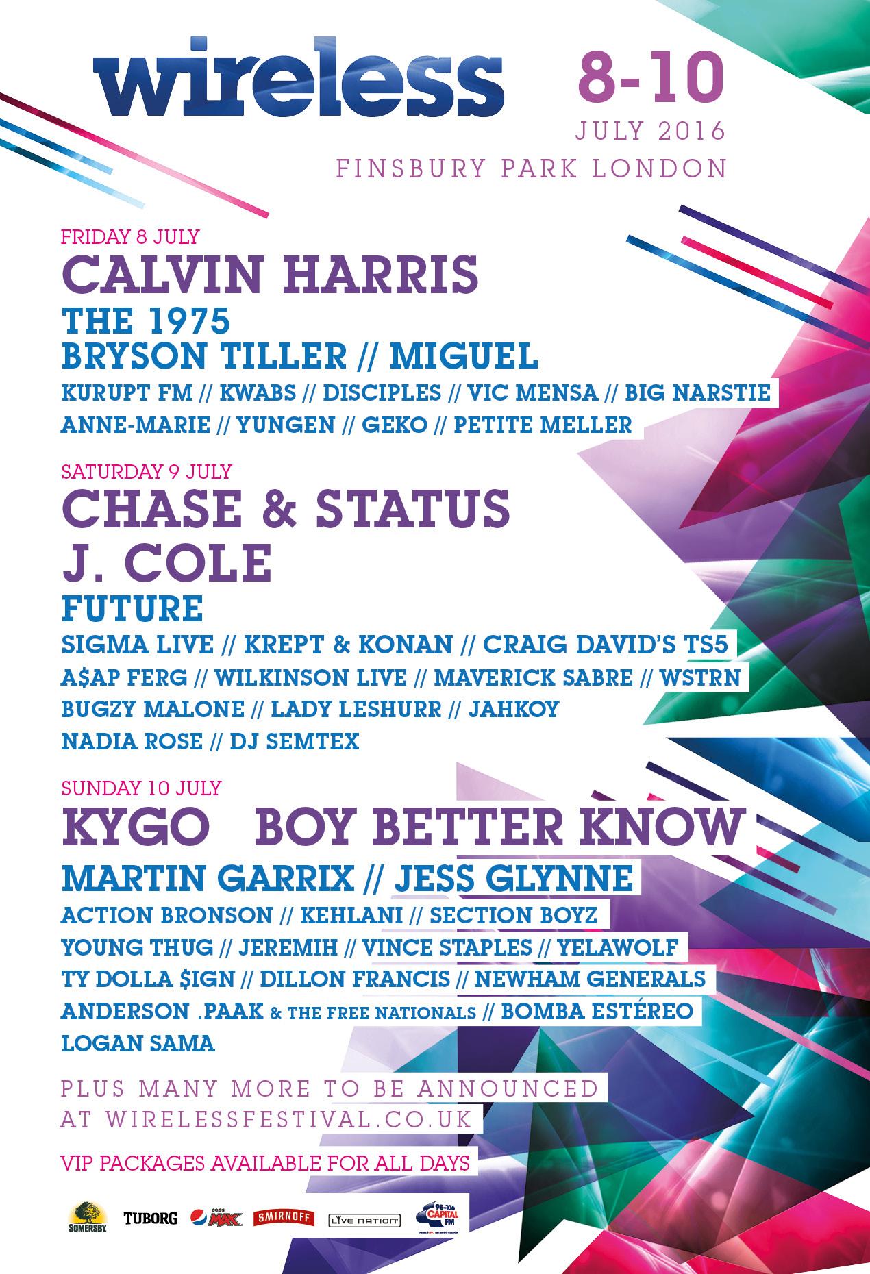 Wireless Festival 2016 Line Up 7 Ae02e